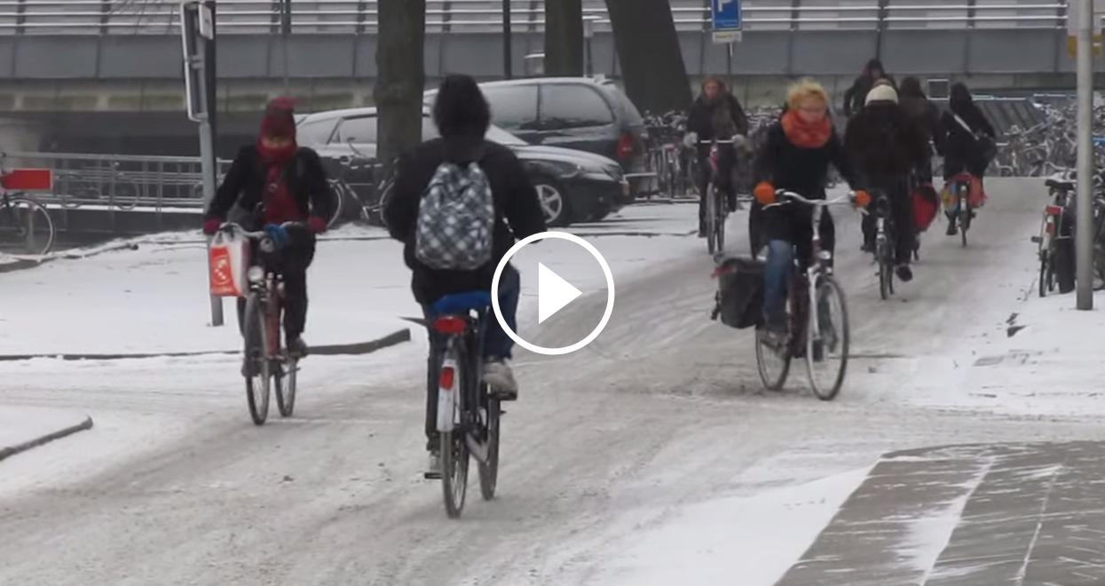 Сycling in the snow